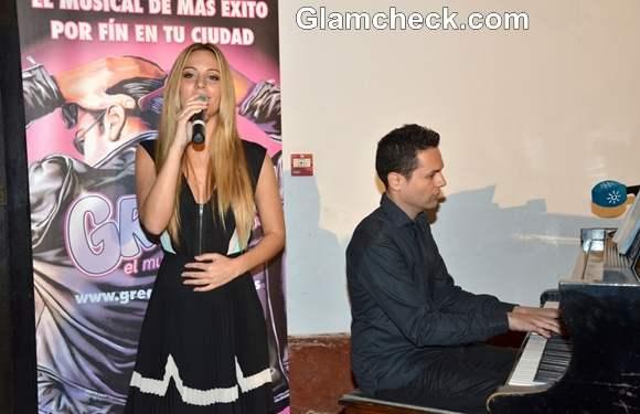 Edurne Performs at Grease El Musical