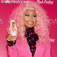 Nicki Minaj Goes Conservative in Pink Suit for Pink Friday Fragrance Launch