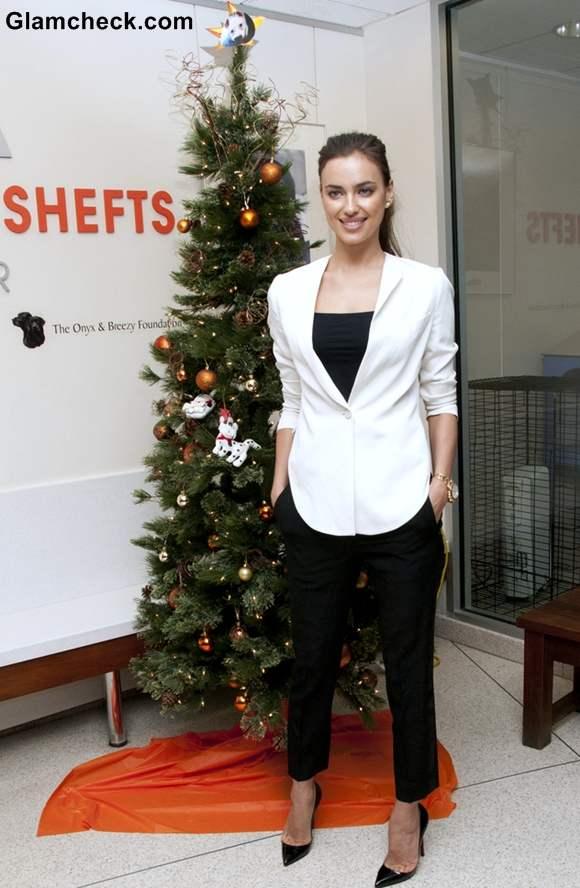 Irina Shayk Christmas 2012