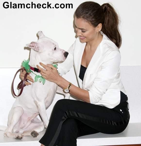 Irina Shayk Urges Fans to Adopt Abandoned Pups for Christmas
