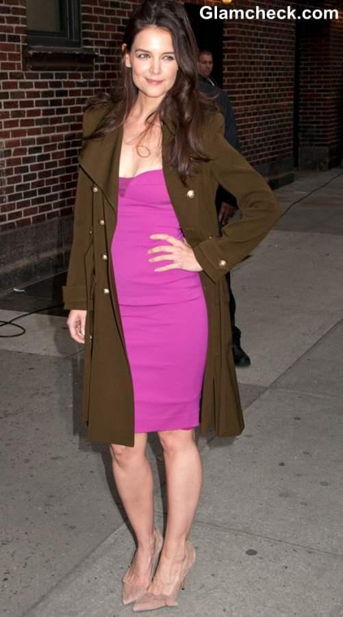 Katie Holmes At David Lettermans Show