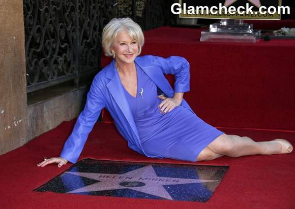 Actress Helen Mirren Lauded With A Star At Hollywood Walk Of Fame