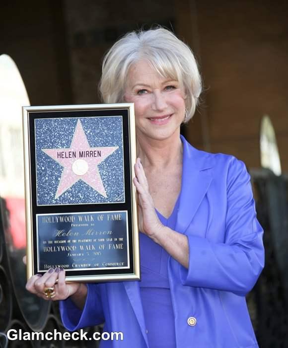 Actress Helen Mirren Star At Hollywood Walk Of Fame