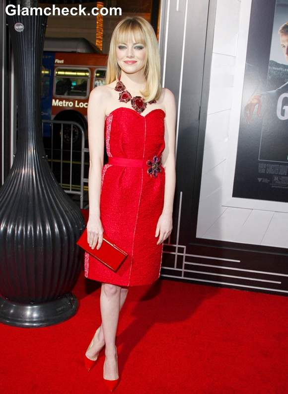 Emma Stone Gorgeous In Lanvin At The Premiere Of Gangster Squad In LA
