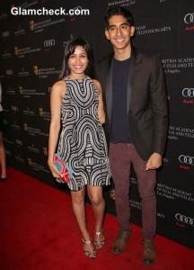Freida Pinto dev patel At 2013 BAFTA Awards Season Tea Party In LA