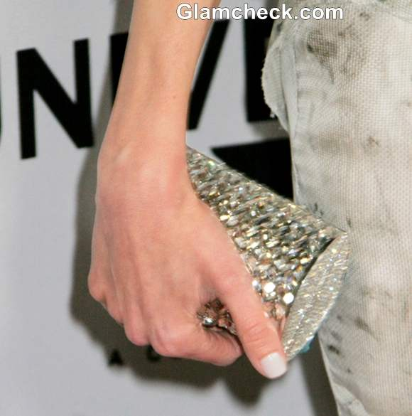 Giuliana Rancic silver clutch