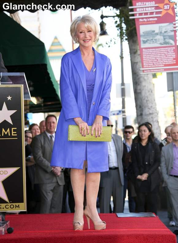 Helen Mirren Lauded With A Star At Hollywood Walk Of Fame