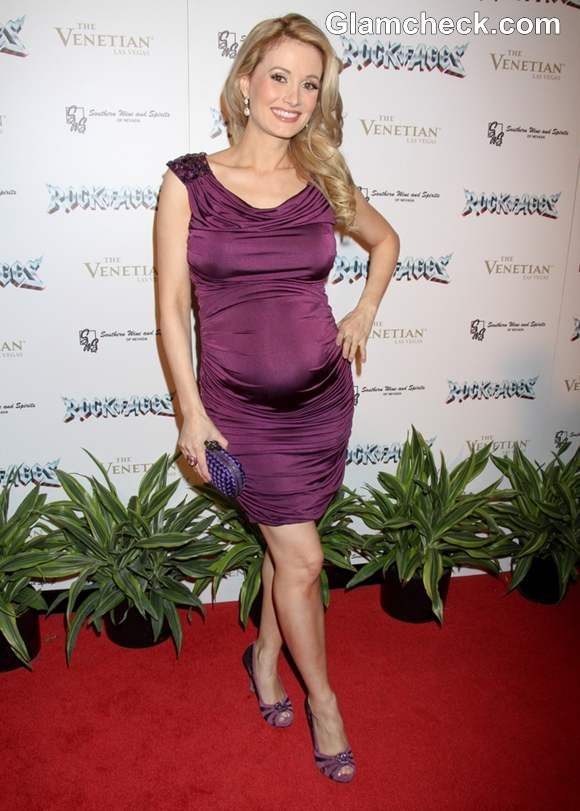Holly Madison Shows Off Her Baby Bump At Rock of Ages Musical Opening Night