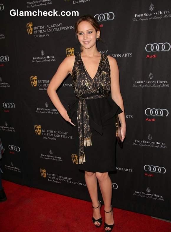 Jennifer Lawrence sizzles In Altuzarra At 2013 BAFTA Tea Party