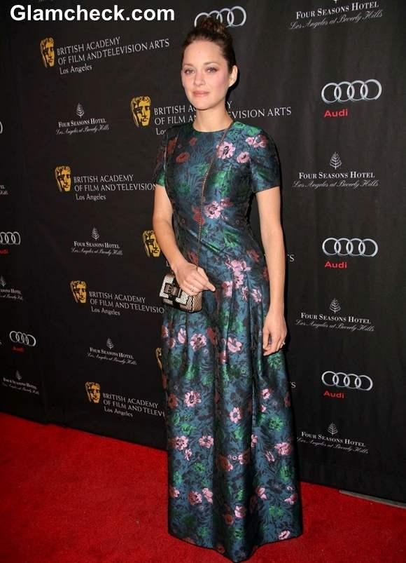 Marion Cotillard Graceful In Erdem At 2013 BAFTA Tea Party In LA