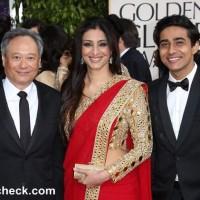 Tabu in Red Sari at 2013 Golden Globe Awards