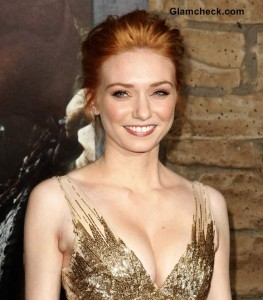 "Eleanor Tomlinson Radiant in Shimmery Gown at ""Jack and the Giant Slayer"" Premiere"
