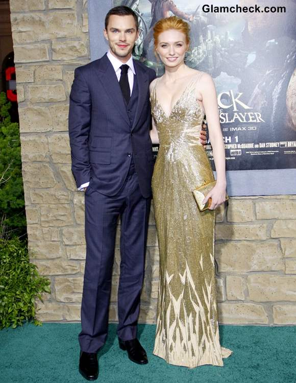 Eleanor Tomlinson and Nicholas Hoult at Jack and the Giant Slayer Premiere