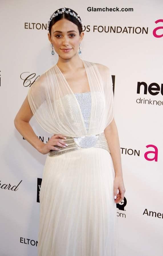 Emmy Rossum at Elton Johns Oscar Party 2013