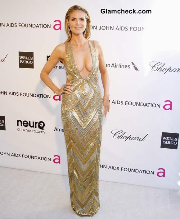 Heidi Klum at 2013 Elton Johns Oscar Viewing Party