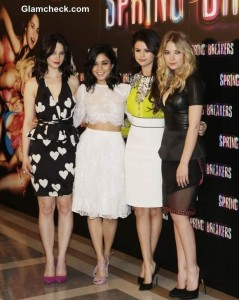Rachel Korine Vanessa Hudgens Selena Gomez and Ashley Benson Spring Breakers photocall