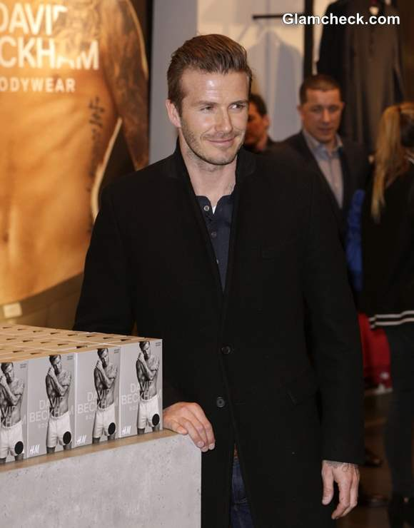 David Beckham Promotes Bodywear for HM in Germany