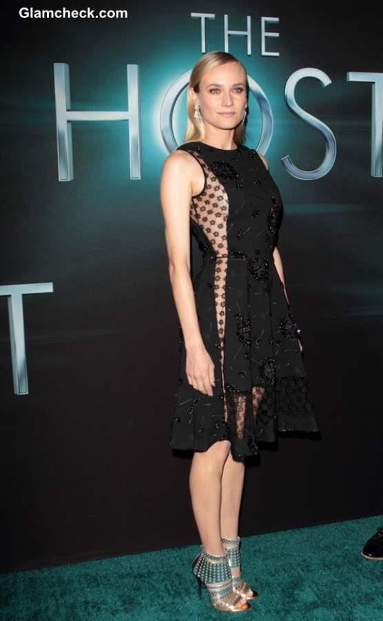 Diane Kruger in Sheer-panelled Dress at The Host Premiere
