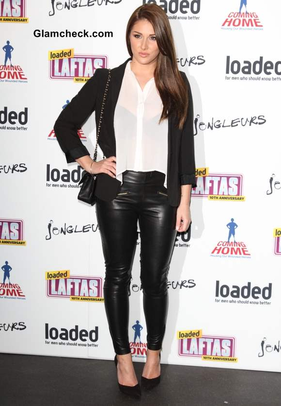 Lucy Pinder in Monocrhrome Outfit at Laftas Comedy Awards 2013