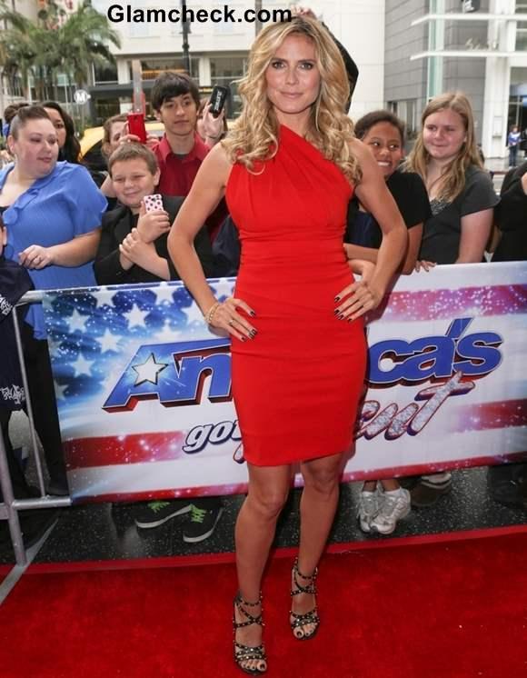 Heidi Klum at Americas Got Talent 2013 Premiere