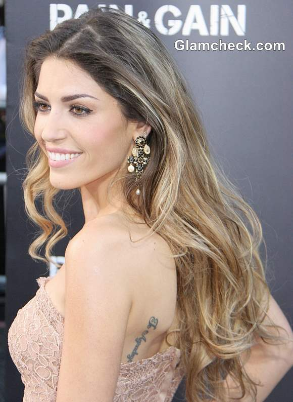 Yolanthe Cabau Gorgeous In Lace Gown At Pain Amp Gain La