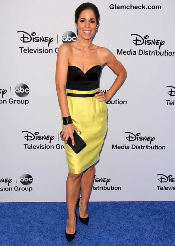 Ana Ortiz Oozes Pizzazz in yellow black outfit