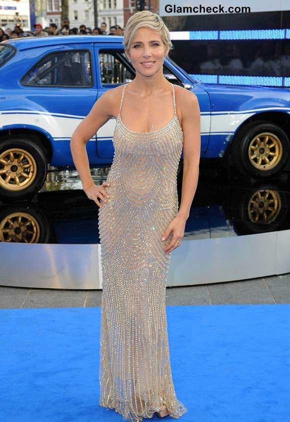 Elsa Pataky Crystal-studded Gown at Fast Furious 6 Premiere
