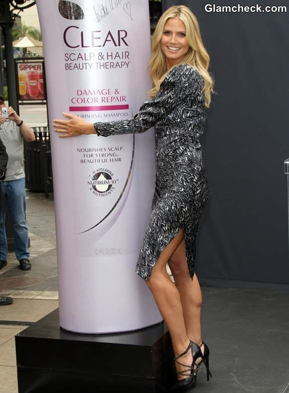 Heidi Klum Promotes Right End Hair care Campaign