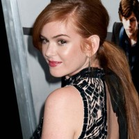Isla Fisher ponytail hairstyles 2013