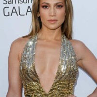 Jennifer Lopez 2013 Stunning in Plunging Metallic Gown