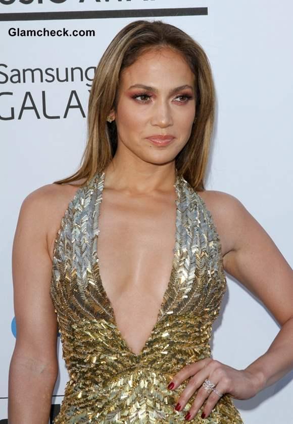 Jennifer Lopez Metallic Gown 2013 Billboard Music Awards
