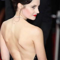 Paula Lane in backless gown at 2013 TV Awards Show