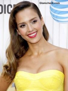 Yellow Fever: Jessica Alba Heats up Red Carpet in Strapless Mini Dress