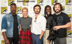 Celebrities attend SYFY'S 'Nightflyers' Press line during Comic-Con 2018