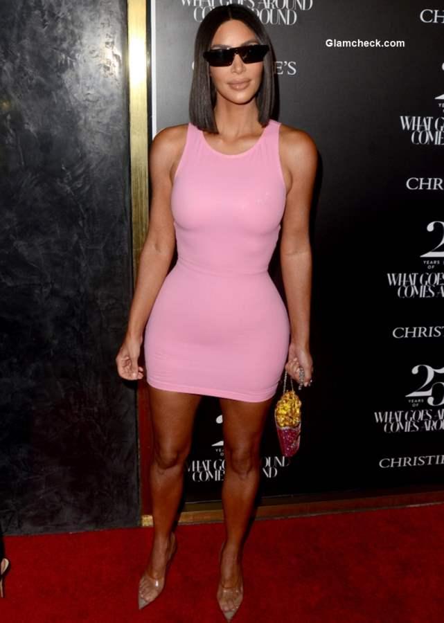 Kim Kardashian in Snug Dress 2018