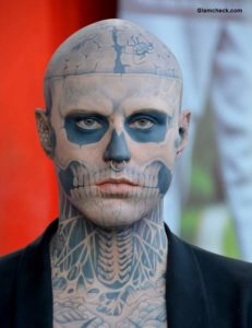 Rick Genest The Zombie Boy Dies at 32