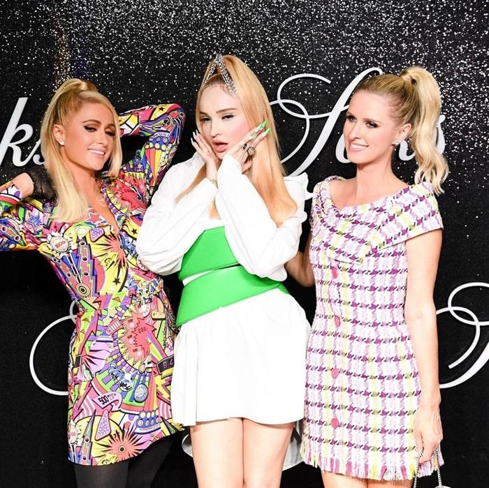 Paris Hilton Kim Petras Nicky Hilton at Saks NYFW Party