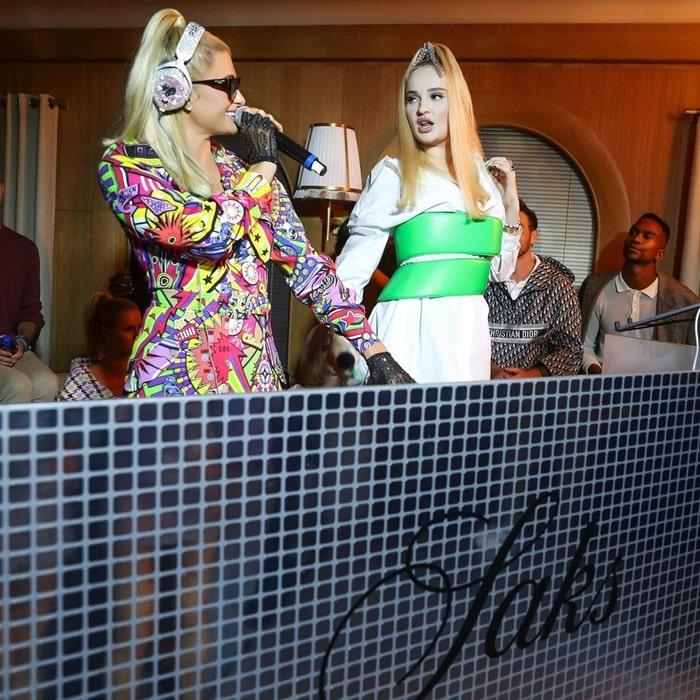 Paris Hilton Turns DJ at Saks NYFW Party