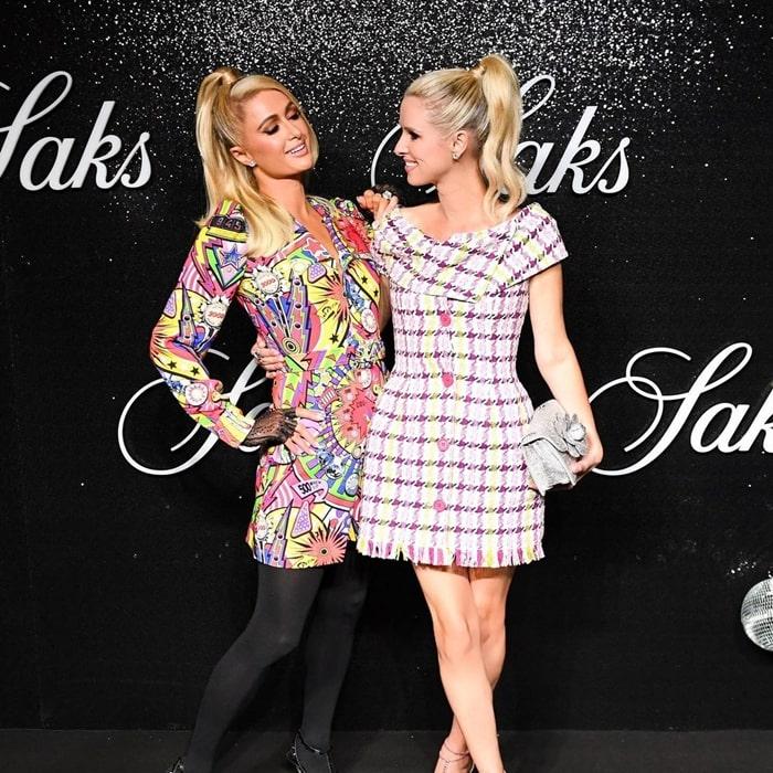 Paris Hilton with sister Nikcy Hilton at Saks NYFW Party