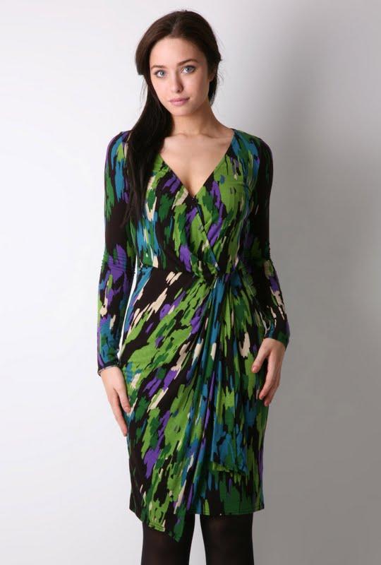 green-purple dress