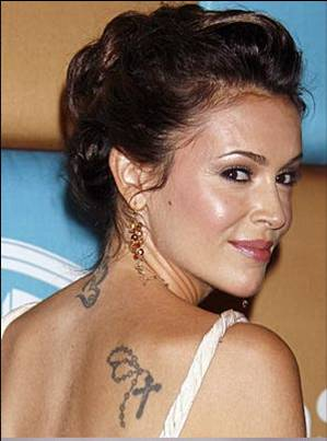 alyssa milano tattoo. Alyssa Milano tattoos