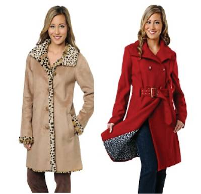 Animal print lining coats / jackets
