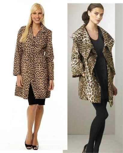 Animal print coats
