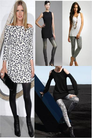 7a4d5334a Animal print dress   leggings