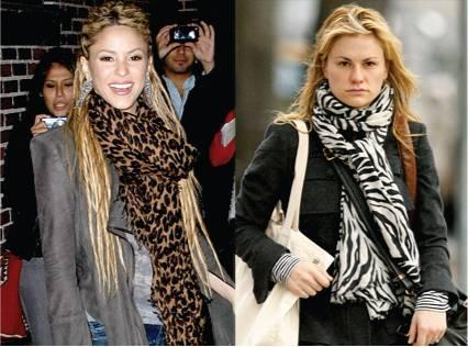Animal print scarves - stoles