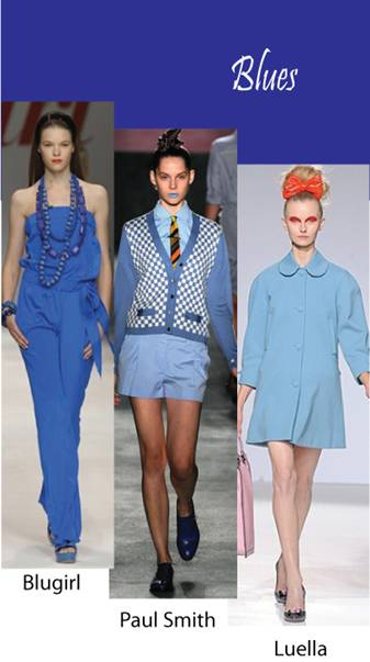 Color trend Spring summer 2010 Blue