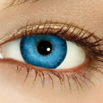 Color tints blue / colored contacts