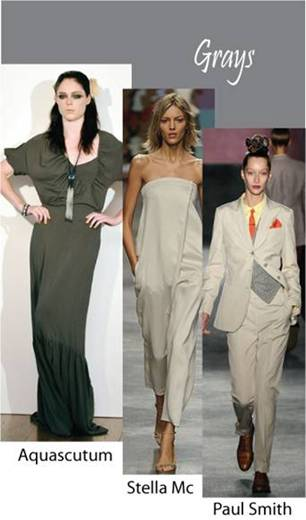 Color trend Spring summer 2010 Gray