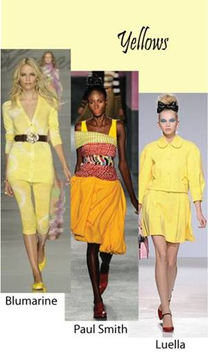 Color trend Spring summer 2010 yellow