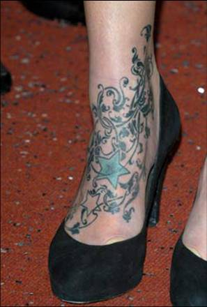 Fearne Cotton ankle tattoo